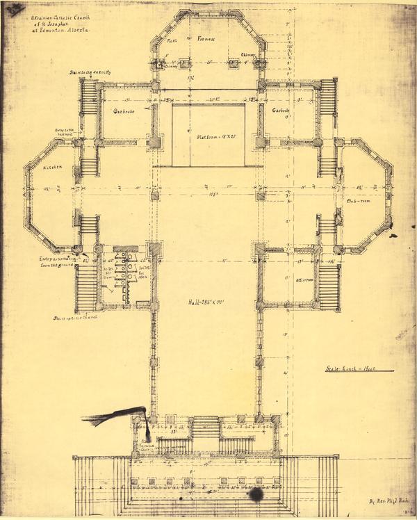 Fr ruh blueprint of basement plan of st josaphat ukrainian fr ruh blueprint of basement plan of st josaphat ukrainian catholic church in edmonton alberta malvernweather Choice Image