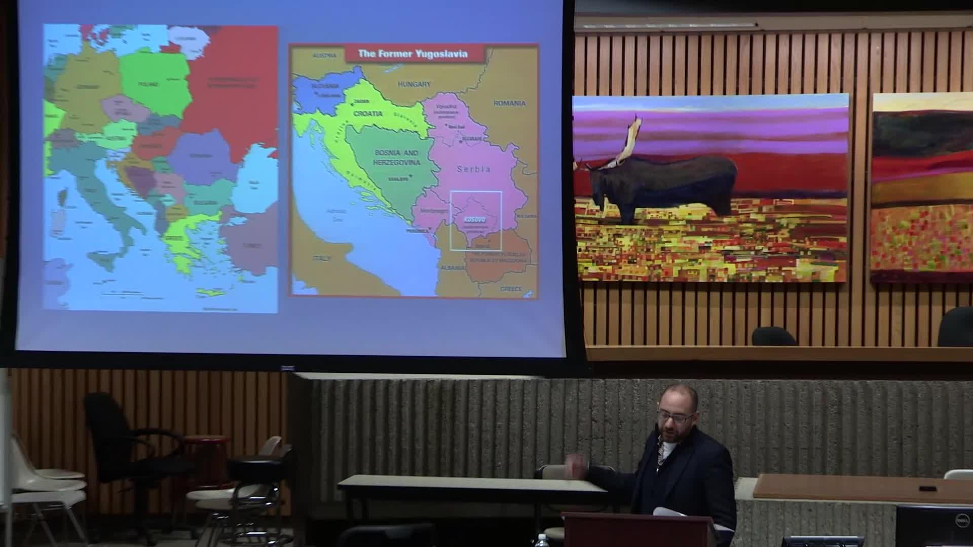Talk by Eliott Behar on War Crimes in Kosovo