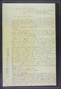 Louis Riel Letter to Pierre Lavallee